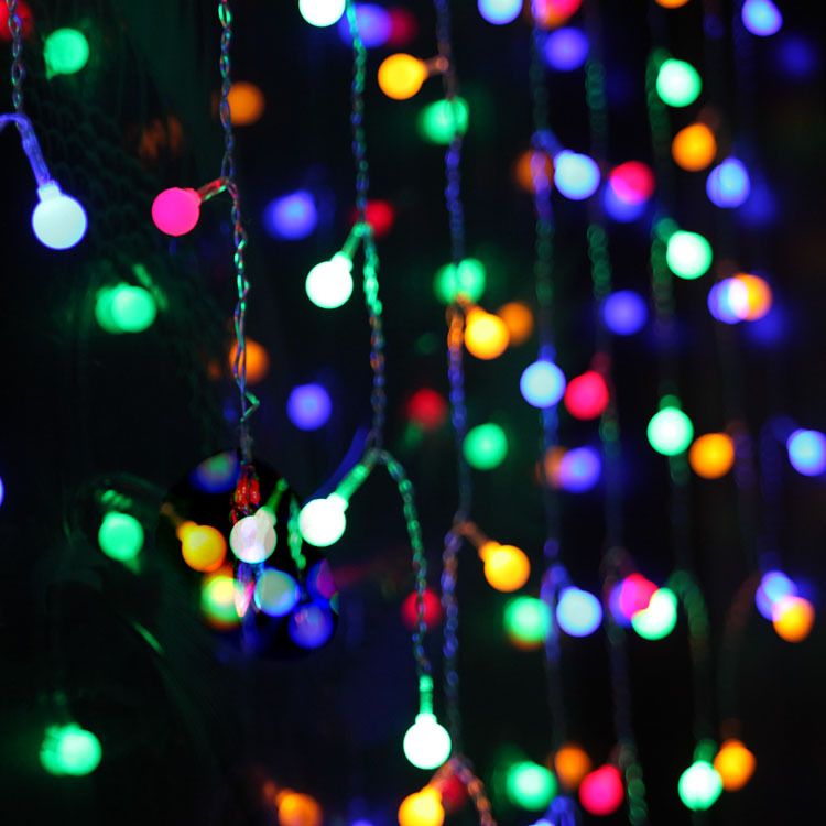 3.5M 100SMD Curtain Icicle String Light Balls LED String Strip Fairy Lights Luminaria Wedding Party Decoration(China (Mainland))