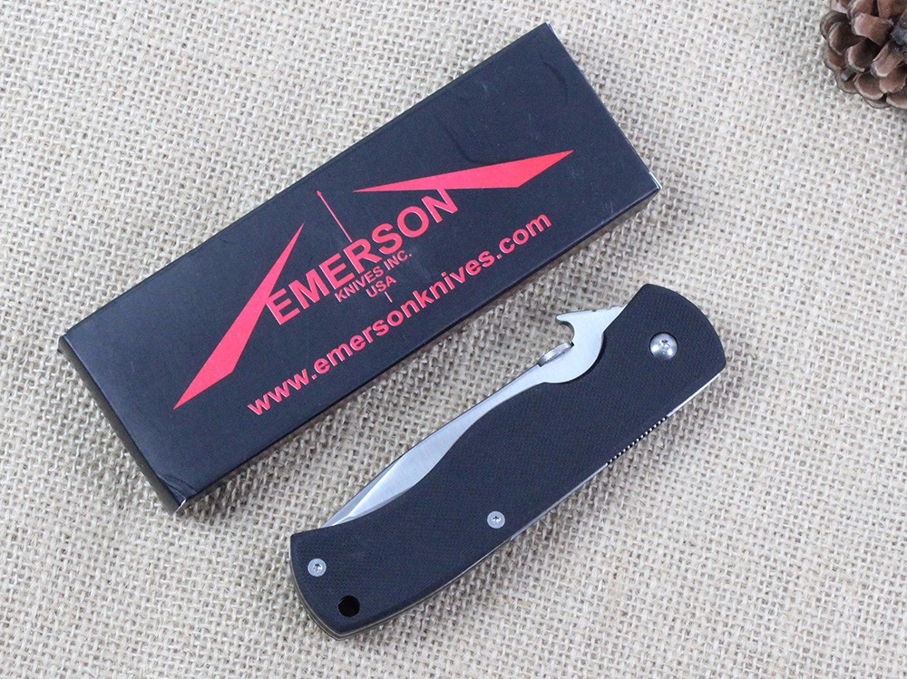 Buy New Emerson CQC 7BW Folding Knife 7Cr Blade G10 Handle Camping Outdoor Knives Survival Tactical Pocket knife Hunting Tools EDC cheap