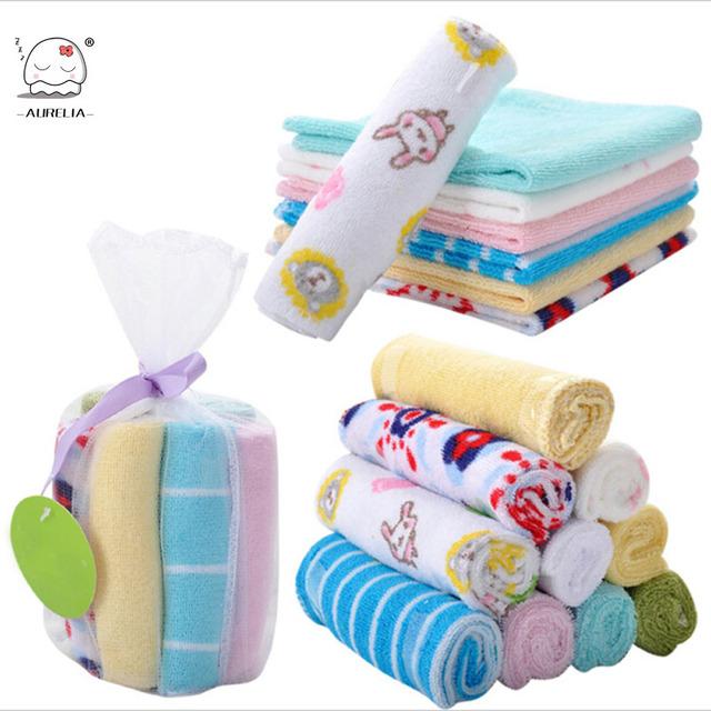 8 шт./лот одной небольшой площади мягкий милый ребенок полотенце платок для детского ...