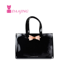 FREE SHIPPING butterfly shopping bag lovely pvc waterproof ted bag colorful jelly handbag women handbag with