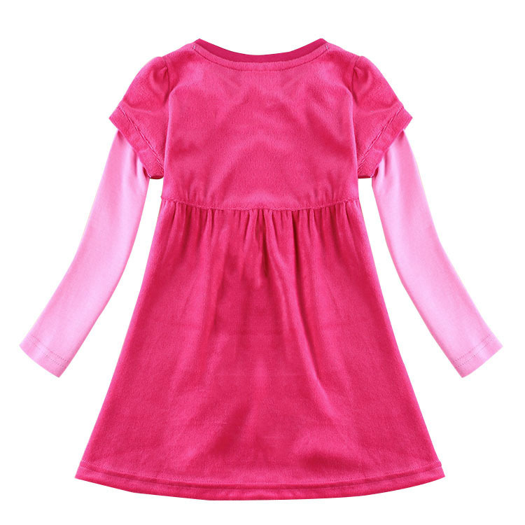 fashion baby girls dress up for girls rose red kids wear vestidos infantis de menina All for children clothing accessories(China (Mainland))