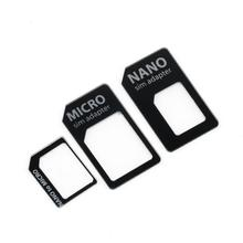 Free shipping SIM MICROSIM Adaptor Adapter 3 in 1 for Nano SIM to Micro Standard for Apple for iPhone 5 5g 5th