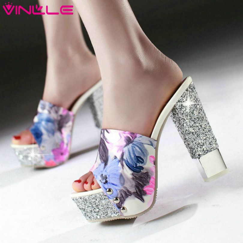 VINLLE 2015 Fashion women Sandals shoes high heel platform gladiator shoes ladies summer beautiful party shoes size 34-43<br><br>Aliexpress