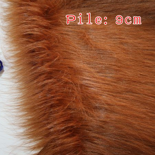 "Brown, SOLID SHAGGY FAUX FUR FABRIC (LONG PILE FUR), costums, cosplay, cloth, hair 36""X60"" SOLD BY THE YARD, FREE SHIPPING(China (Mainland))"