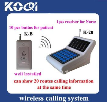 Hospital Wireless Call Bell System ; Can show 20 callings from patient at the same time