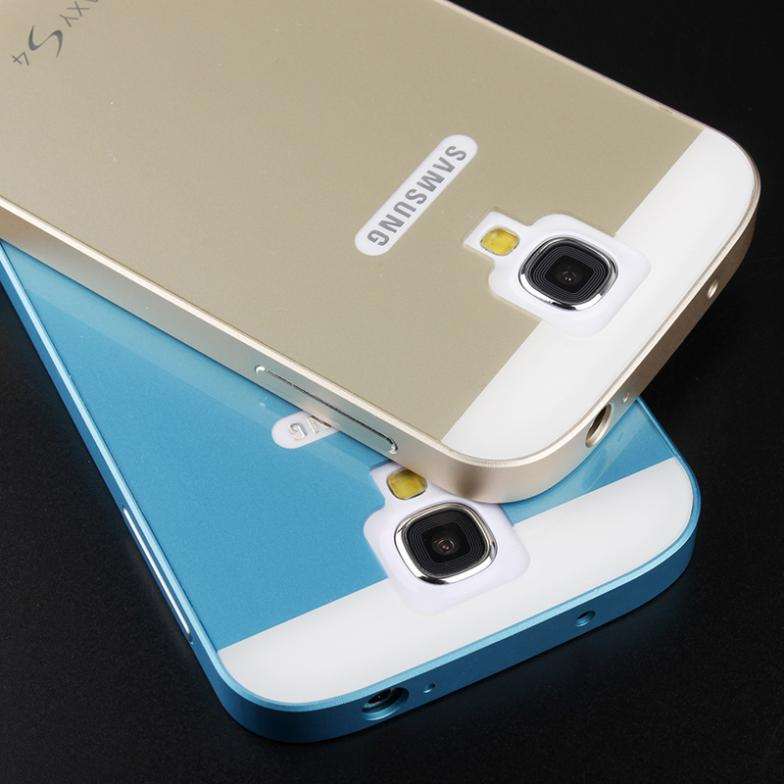 S4 Case Ultra Thin Slim Aluminium Metal Frame + Hard PC Back Cover Case for Samsung Galaxy S4 IV i9500 Mobile Phone Bag(China (Mainland))
