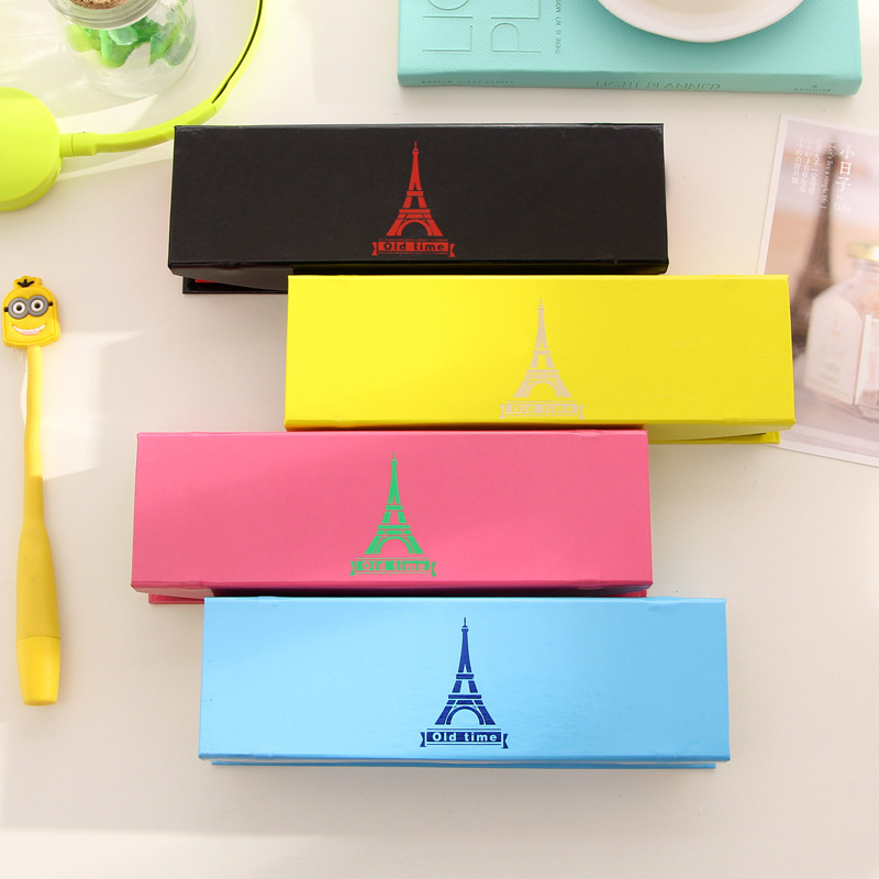 2015 New hot writing case creative cartoon Candy color paper tray tower gilt school pencil box pen bag cases Christmas gift<br><br>Aliexpress