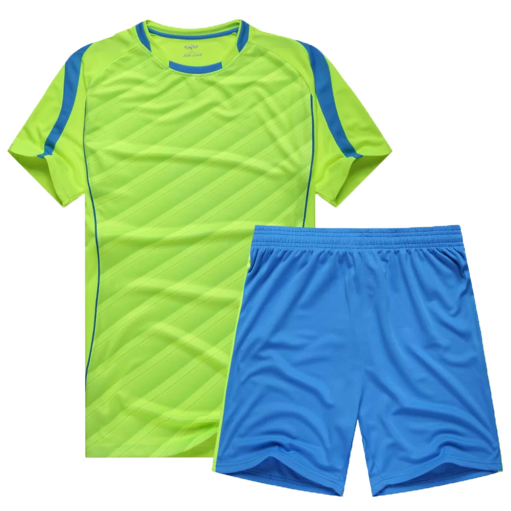 DIY 2016 2017 custom top paintless men soccer training jersey suit survetement football shirt blank team short sportswear(China (Mainland))