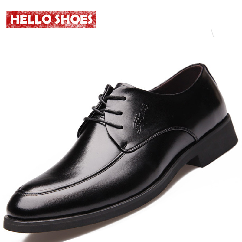 korean genuine leather shoes 2016 new arrival business