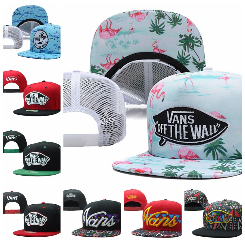 free shipping Vans gorras Floral Cap Adjustable Hats Street Headwear Warped Tour 2014 Trucker Hat Off The Wall snapback(China (Mainland))