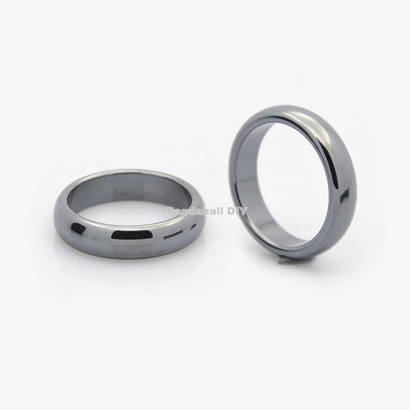 Non-Magnetic Hematite Finger Rings, Black, 20mm(China (Mainland))