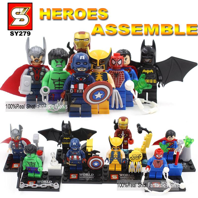 Гаджет  2015 New SY279 Super Heroes  Blocks Mini Figures,Newest Heroes Assemble  Blocks Action Figure VS Decool Building Block Figure  None Игрушки и Хобби