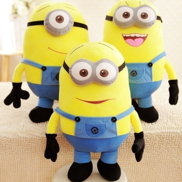3pcs/set 25CM 3D Despicable ME Movie Plush Toys 9.8Inch Minion Jorge Stewart Dave For Baby Kids Christmas Gift Factory Wholesale(China (Mainland))