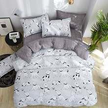 Hot sale Home Textile duvet cover + flat sheet + pillowcase 3/ 4pcs Bedding Set Microfiber Fabric(China)
