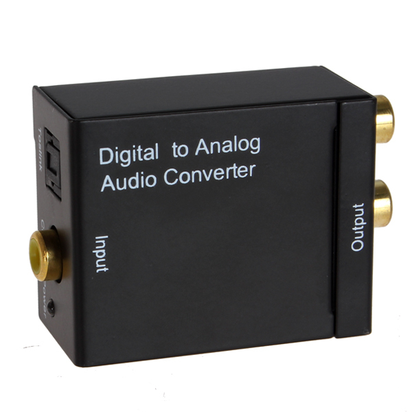 Digital to Analog Audio Converter Digital Optical Coax Coaxial Toslink to Analog RCA L/R Audio Convert Adapter(China (Mainland))