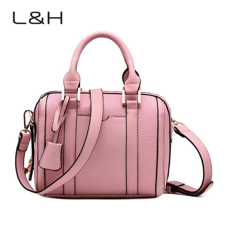2016 Women PU Leather Handbag Casual Women Messenger Bags European And American Style Ladies Crossbody Shoulder Bag Tote L&amp;H009<br><br>Aliexpress