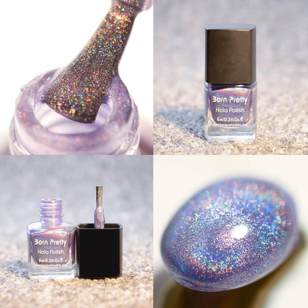 6ml Born Pretty Holographic Holo Glitter Beauty Nail Art Polish Varnish Hologram Effect 8#