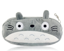Kawaii Japan TOTORO Plush Pen Pencil BAG Pouch Case Pack Pendant Cosmetic & Gift Stationery Pouch Bag Case Coin Purse Wallet BAG(China (Mainland))