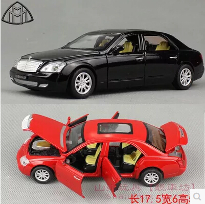 1:32 Maybach Zeppelin 62S Diecast Model Car, Toys For Children With Gift Box/Six Openable Doors/Music/Light/Pull Back Function(China (Mainland))
