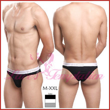 Brand quality male lingerie, Sexy men underwears , mid waist 95% cotton mens Briefs , body shaping male panties U convex design(China (Mainland))