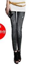 Hot Sale Fashion Style Thin Wild Snow Denim Jeans Leggings Ladies Pencil Pants Nine Legging Female Trouser Free Shipping 1LE9004(China (Mainland))