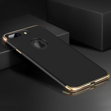 Buy iphone 7 Case Luxury Plating 360 Full Protective Case iPhone 7 Plus Removable 3 1 Black Matte Hard Phone Cover Coque for $2.94 in AliExpress store