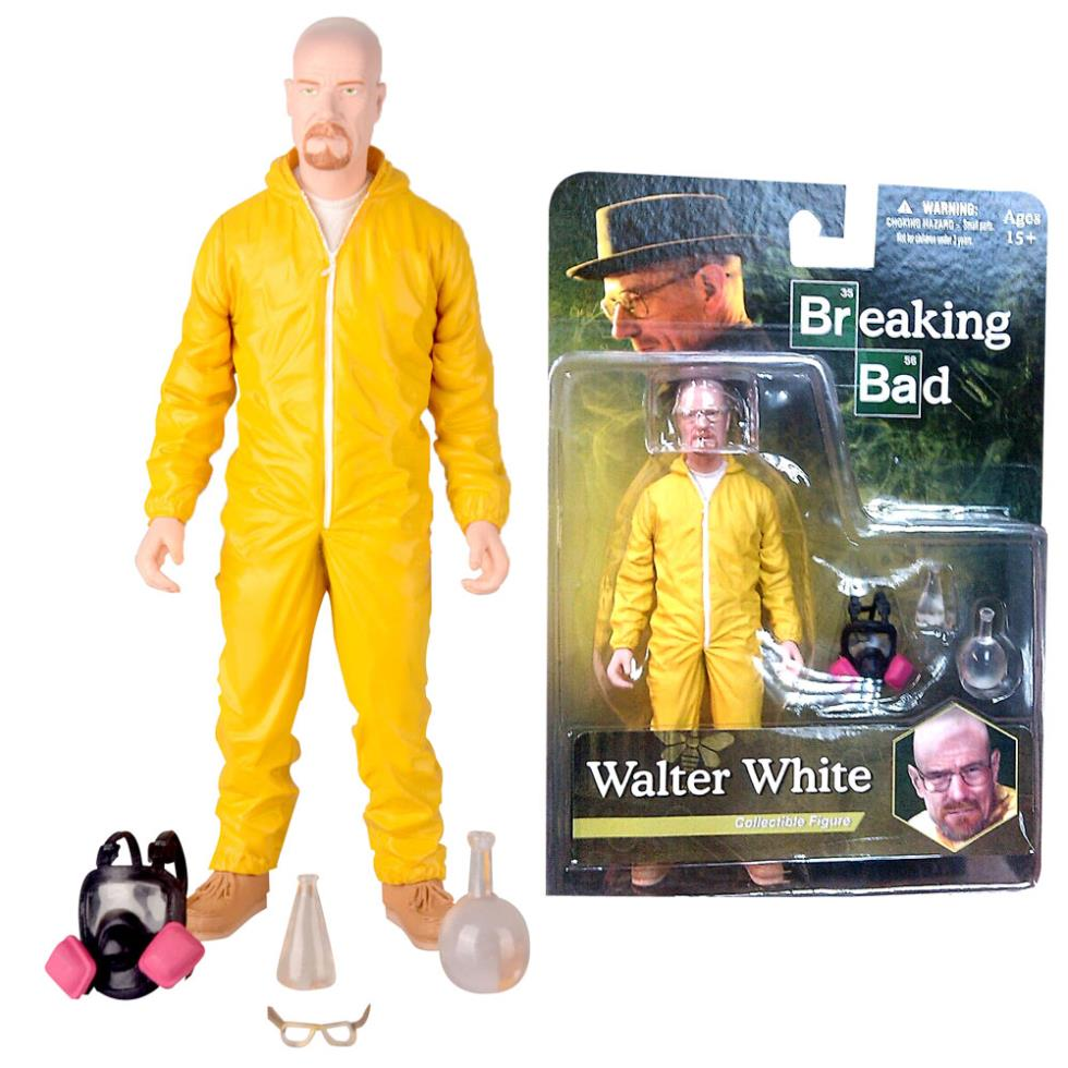"""Free Shipping MEZCO Breaking Bad Figure Walter White in Fire clothes with Box 6.5"""" Model Toy High Quality(China (Mainland))"""