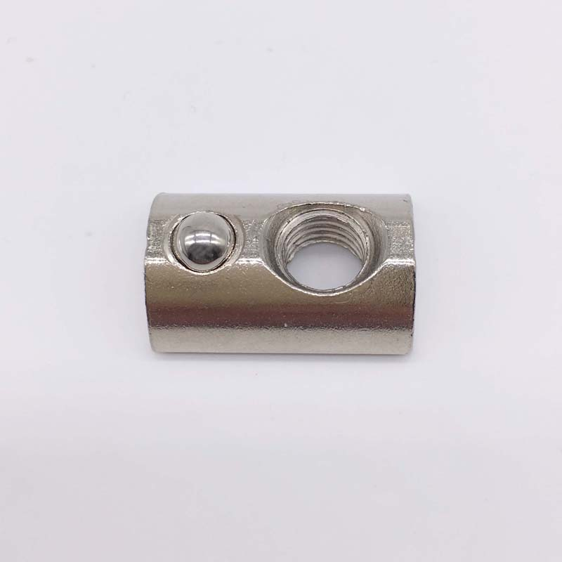 T Slot Nuts M6 Thread With Ball Spring Nut 30 Series T Slot Aluminum Extrusion 100 Pcs<br><br>Aliexpress