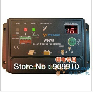 New Solar charge controller 10A 12V / 24VDC automatic distinguish special for lithium battery + Free Shipping