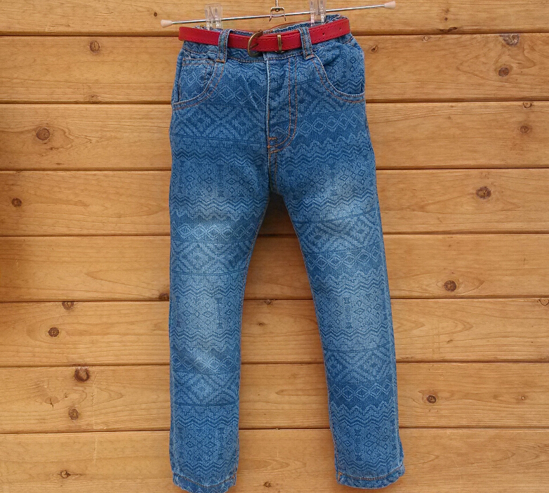 Hot sale new childrens clothing baby jeans children trousers children printing cotton jeans<br>