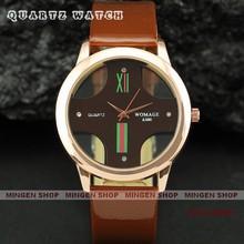 MINGEN SHOP – Womage Unisex Multicolor Transparent Cross Dial  Men Women Quartz Cuff watch