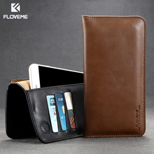 Buy FLOVEME Luxury Genuine + PU Leather Bag Case Samsung Galaxy S8 S6 S7 Edge Plus Wallet Cover iPhone 7 Xiaomi Redmi 4 Pro for $7.99 in AliExpress store