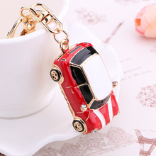 Novelty items Fashion trinket Rhinestone vintage car keychains alloy keyring charm women handbag bag key holder Souvenir gifts