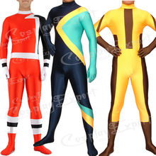 Free Shipping DHL Wholesale Colorful Lycra Spandex Back Zipper Unisex Zentai Catsuit Party Cosplay Custome TM125