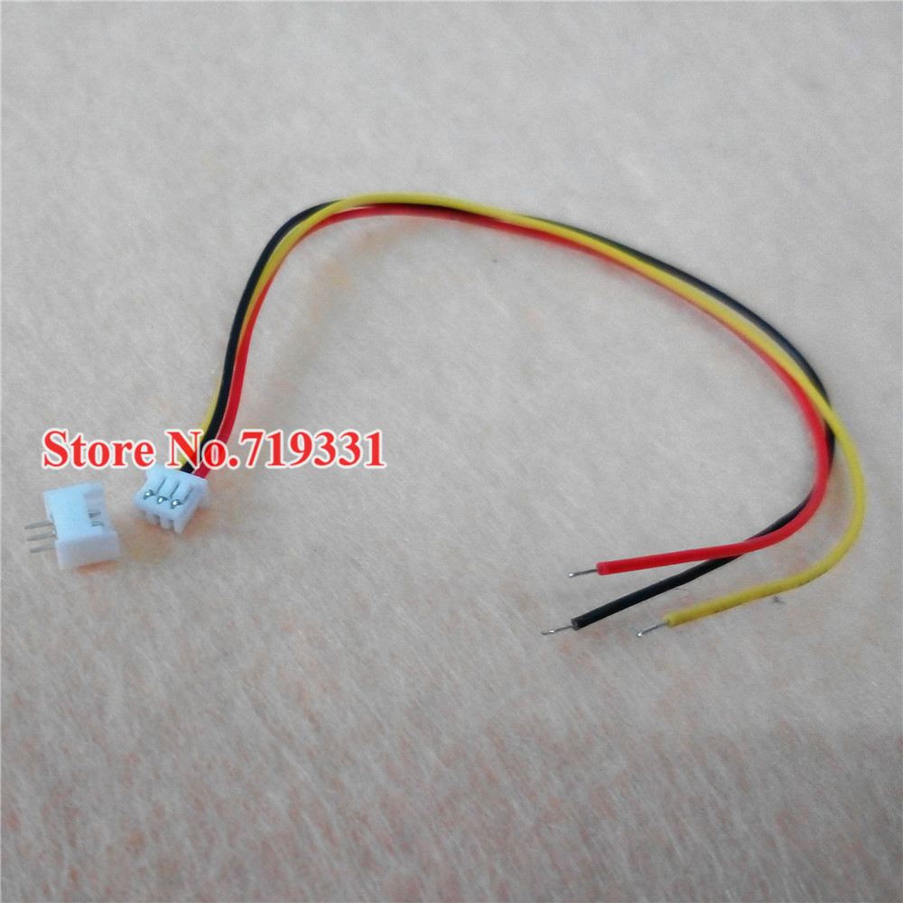 100set  Micro JST 1.25 3-Pin Connector plug Male Female Connector With Wire<br><br>Aliexpress