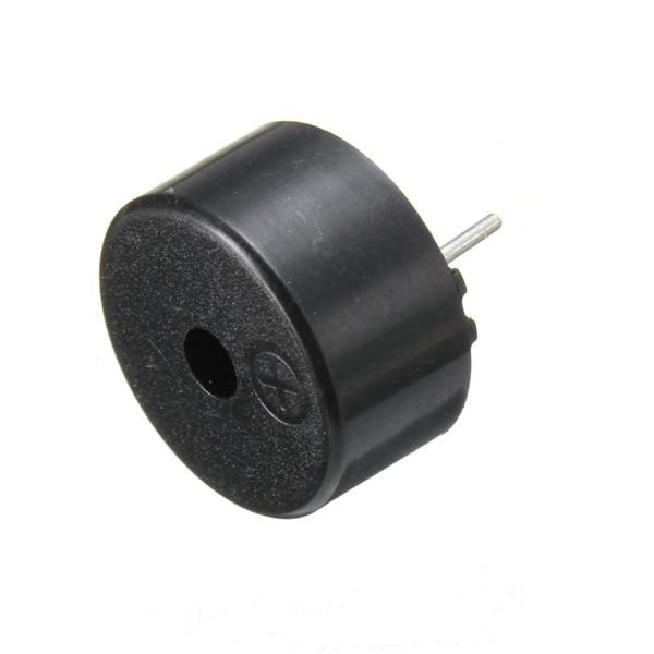 14 x 7mm 2 Pins Passive Electronic Piezoelectric Piezo Buzzer DC 1 30V Black