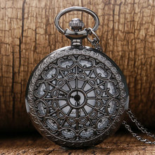 Vintage Bronze Spider Web Pocket watch with Chain Necklace Pendant Steampunk Hour Antique Necklace P242(China (Mainland))