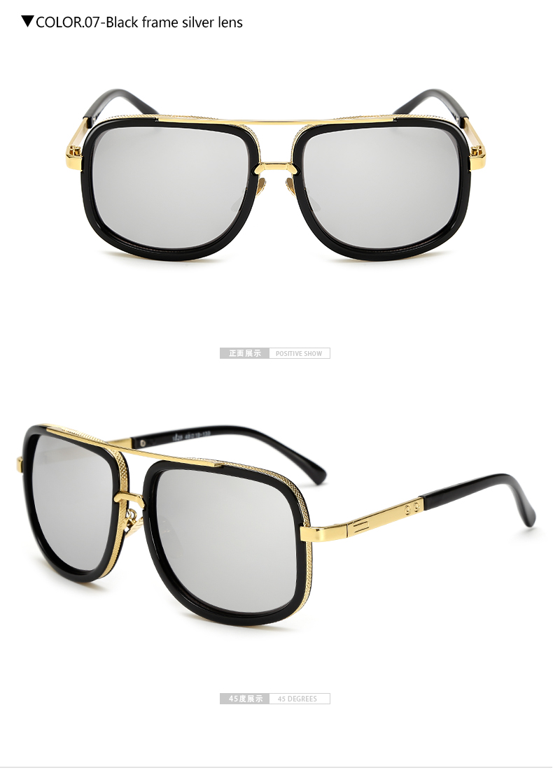 LongKeeper Oversized Men Sunglasses men luxury brand Women Sun Glasses Square Ma