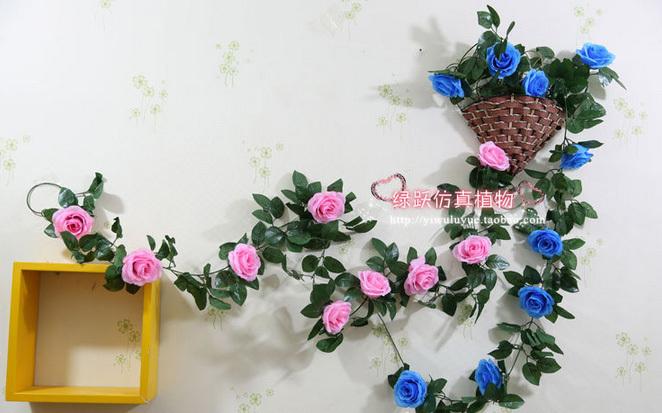 The wedding flower / rattan flower vine / flowers / wire / balcony decoration decoration quality vine wholesale(China (Mainland))