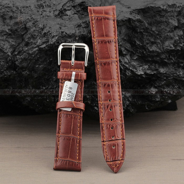 10 piece WBA0103 High Quality Fashion Bamboo Style Buckle Genuine Leather Brown watchband wholesale Select width 18/20/22/24mm<br><br>Aliexpress