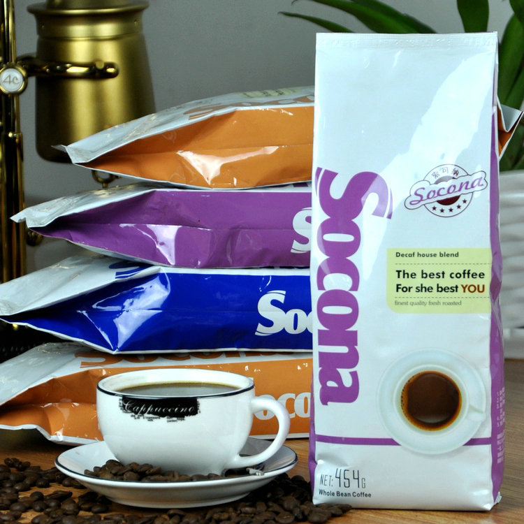 454g Coffee beans organic coffee powder fresh original green slimming coffee beans tea new cafe free