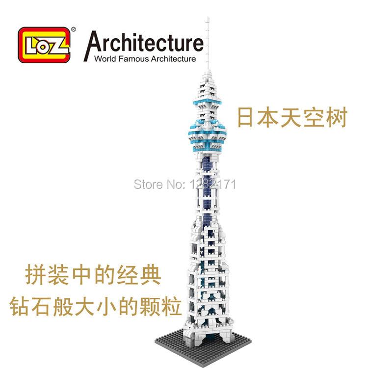 Hot sale LOZ  building blocks The world famous architecture series  9366 Tokyo Sky Tree 620pcs<br><br>Aliexpress