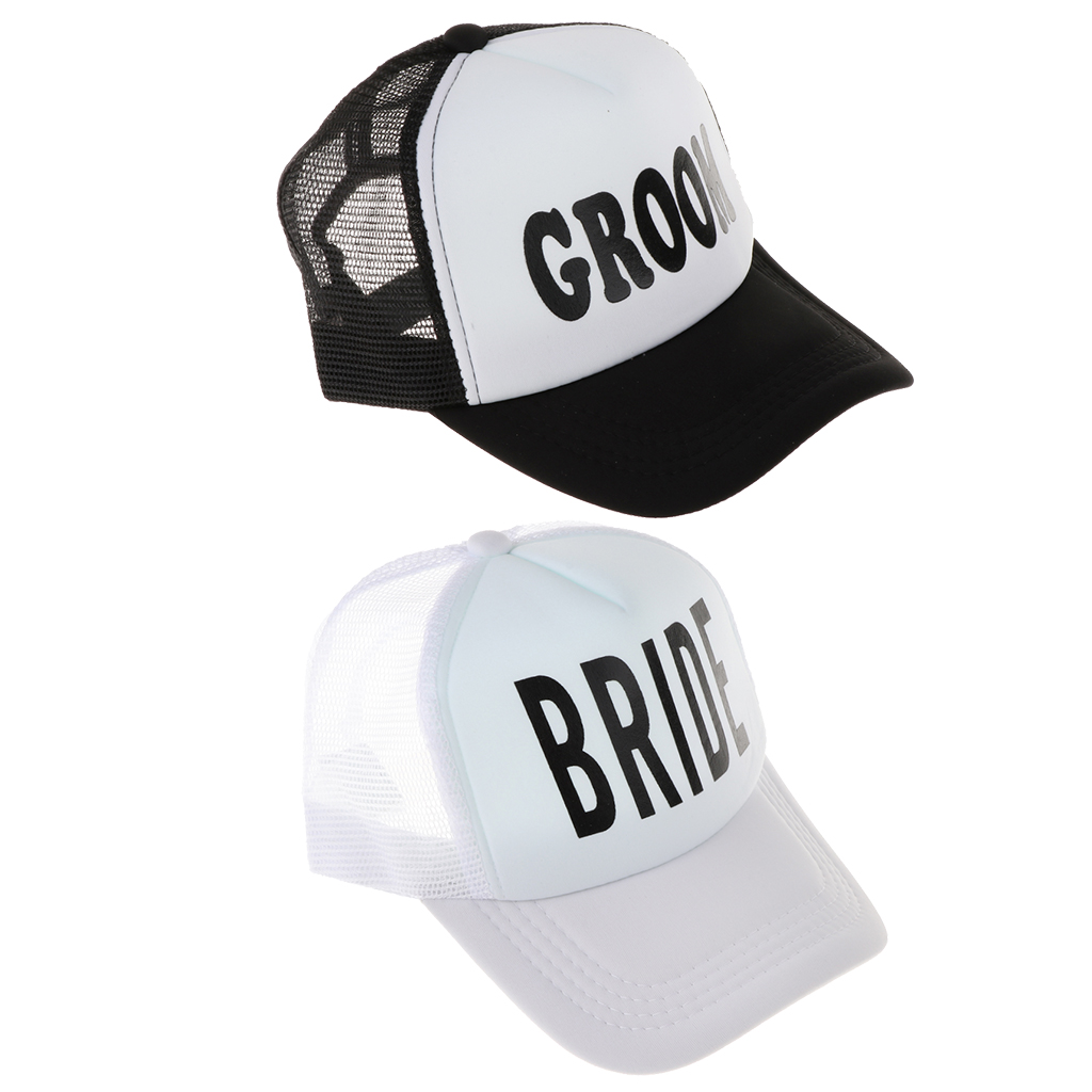 Hat Wedding Party Hats for Bride and Groom Baseball Caps Breathable Mesh Cap.for Couples Lovers