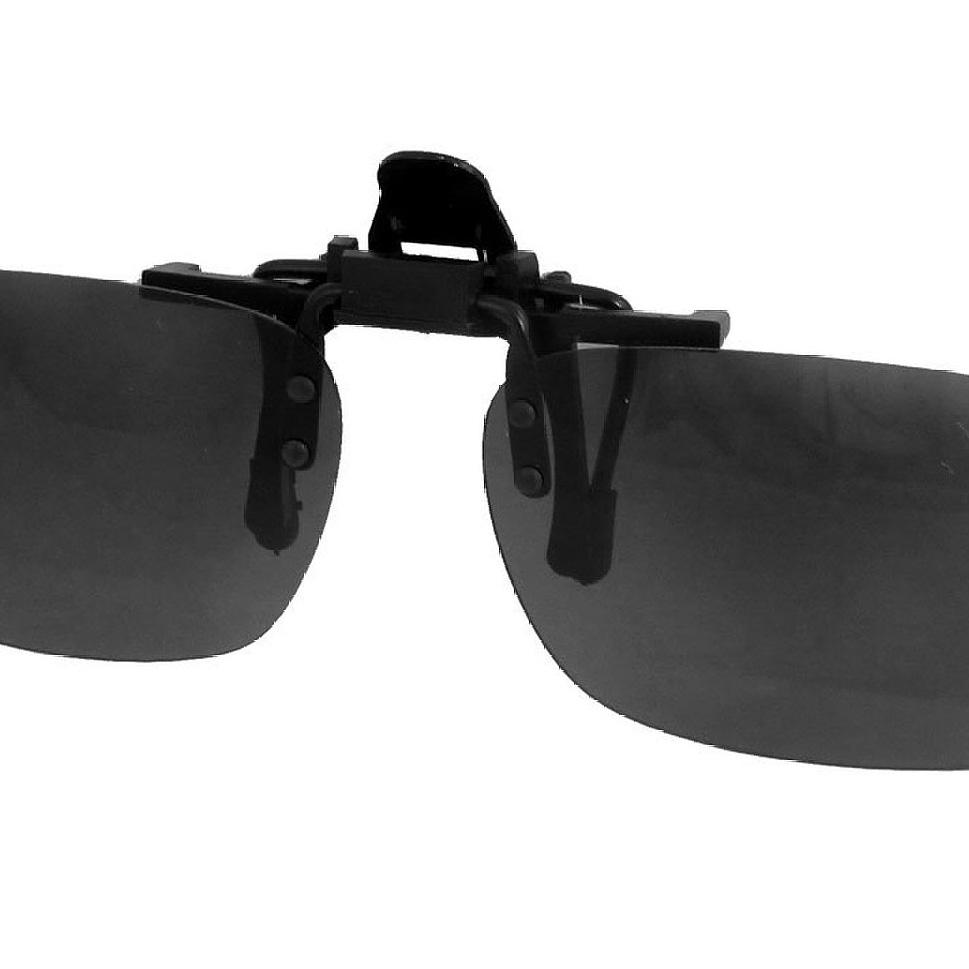 5 x (Unisex Gray Lens Rectangle Flip Up Driving Clip On Polarized Glasses(China (Mainland))