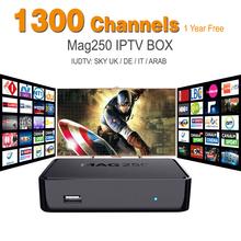 5 pcs MAG 250 iptv Set Top Box sky UK DE European IPTV Box for Spain Portugal Turkish Netherland MAG250 WiFi IPTV box & USB-Wifi