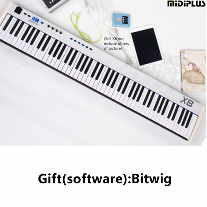 (gift:Bitwig software) Midiplus X8 88Key USB Midi Keyboard Controller with Semi-Weighted Keys.IPAD MIDI musical keyboard(China (Mainland))