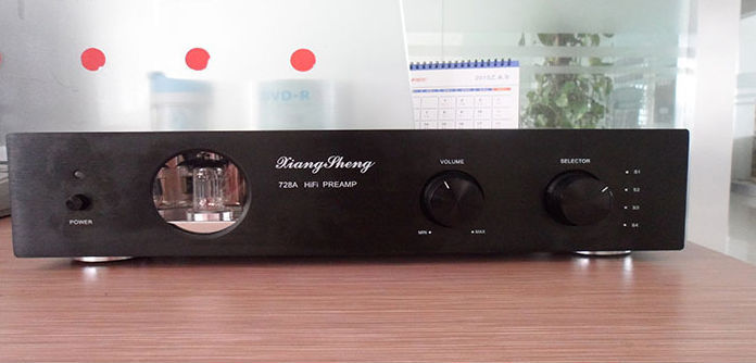 XiangSheng 728A Vacuum Tube PreAmplifier 12AT7 12AU7 6Z4 pre amps (100V-240V) Black 100% Brand New(China (Mainland))
