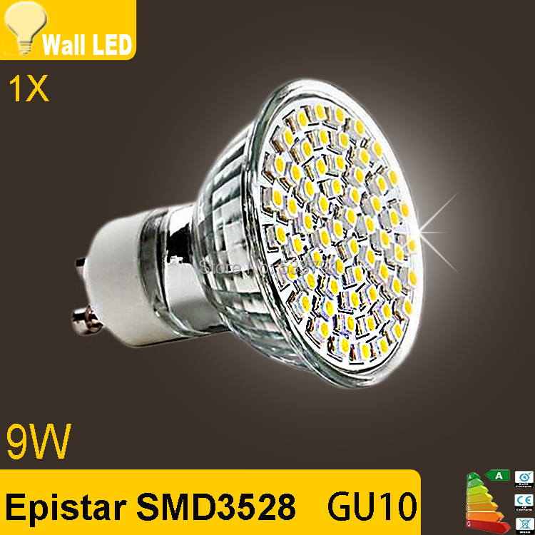 Best Price 1pcs/lot GU10 3528 SMD 60 LED Pure White Warm White Spotlight Spot Lights Bulb Lamp 220V Energy Saving Free Shipping(China (Mainland))
