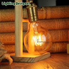 Buy G95 LED edison bulb light vintage lamp Amber color 220V E27 4W Retro LED filament bulb pendant lamp bulb table Antique lamp bulb for $8.88 in AliExpress store