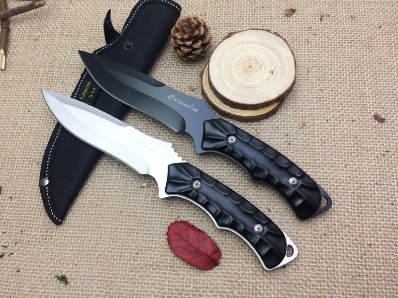 Buy Outdoor Knives 2 Options! Camping Tactical Fixed Knives,5Cr15Mov Blade Aluminium Handle Hunting Survival Knife. cheap